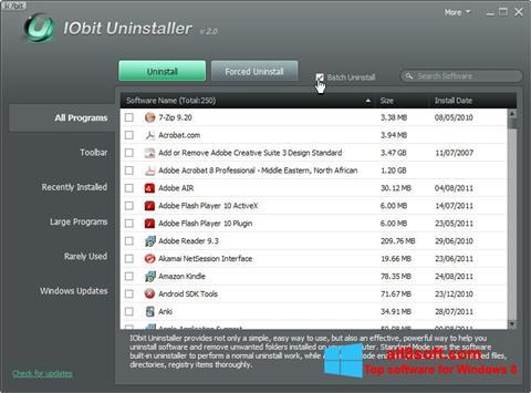 Screenshot IObit Uninstaller für Windows 8