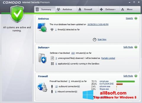 Screenshot Comodo Internet Security Premium für Windows 8