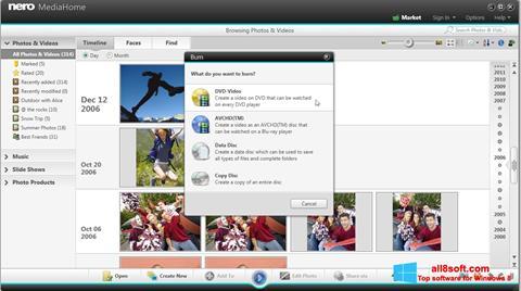 Screenshot Nero MediaHome für Windows 8