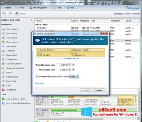 Screenshot Acronis Disk Director für Windows 8
