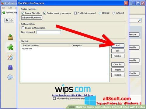 Screenshot uBlock für Windows 8