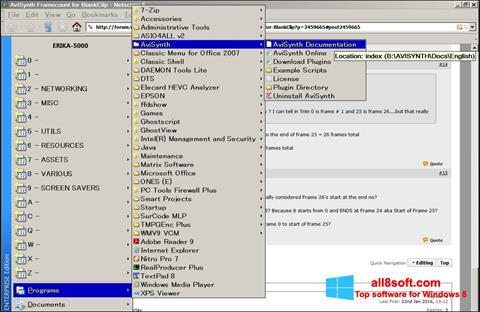 Screenshot AviSynth für Windows 8