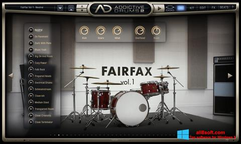 Screenshot Addictive Drums für Windows 8