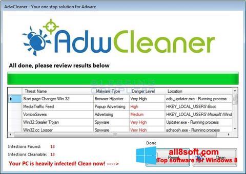 Screenshot AdwCleaner für Windows 8
