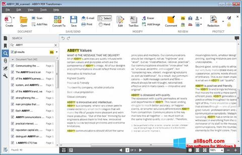 Screenshot ABBYY PDF Transformer für Windows 8