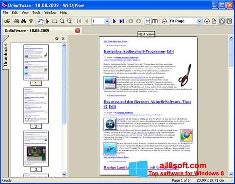 Screenshot WinDjView für Windows 8