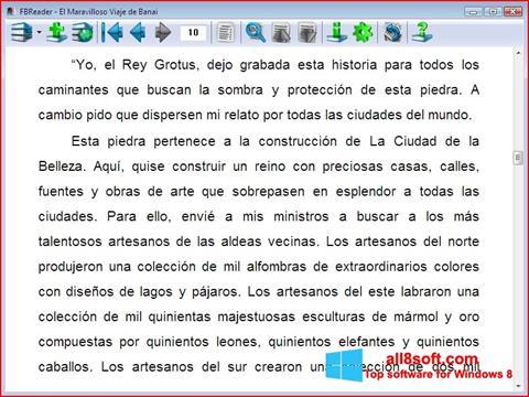 Screenshot FBReader für Windows 8
