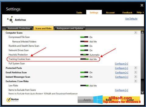 Screenshot Norton für Windows 8