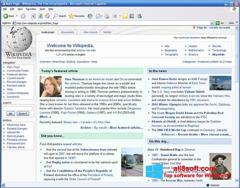 Screenshot Internet Explorer für Windows 8