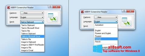 Screenshot ABBYY Screenshot Reader für Windows 8