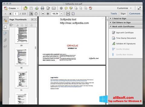 Screenshot Adobe Acrobat für Windows 8