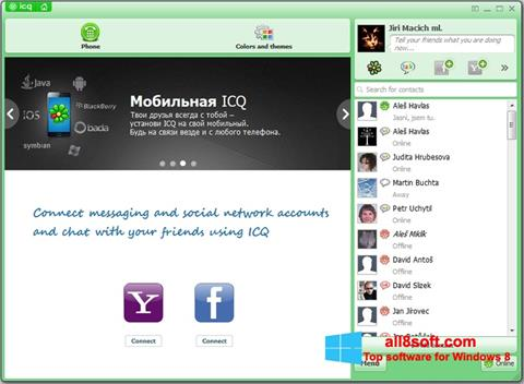 Screenshot ICQ für Windows 8