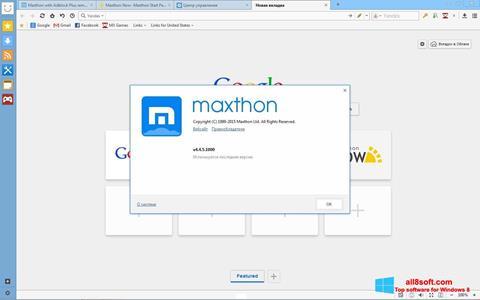 Screenshot Maxthon für Windows 8