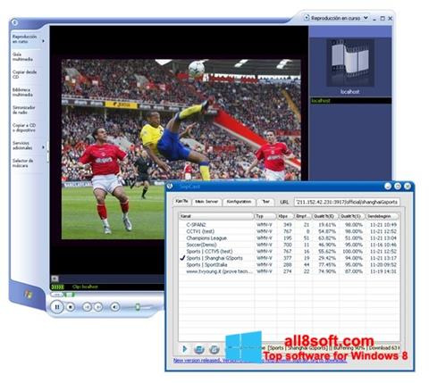 Screenshot SopCast für Windows 8