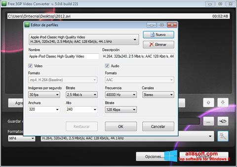 Screenshot Free MP4 Video Converter für Windows 8