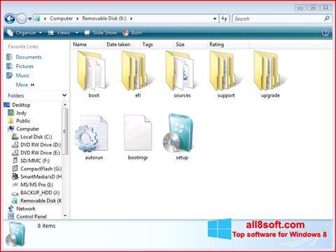 Screenshot Windows 7 USB DVD Download Tool für Windows 8