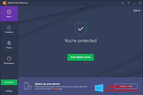 Screenshot Avast Free Antivirus für Windows 8