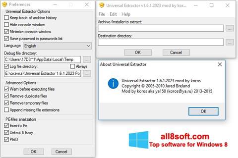 Screenshot Universal Extractor für Windows 8