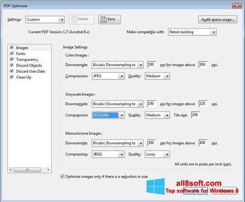 Screenshot Adobe Acrobat Pro DC für Windows 8