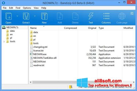 Screenshot Bandizip für Windows 8