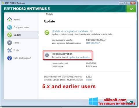 Screenshot ESET NOD32 für Windows 8