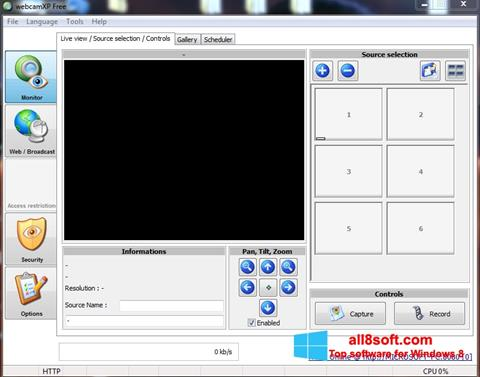 Screenshot webcamXP für Windows 8
