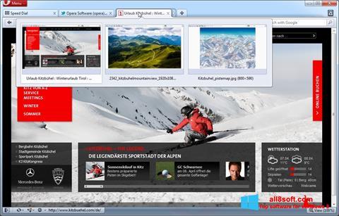 Screenshot Opera für Windows 8