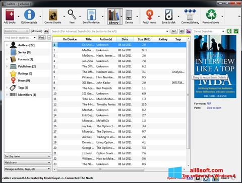Screenshot Calibre für Windows 8