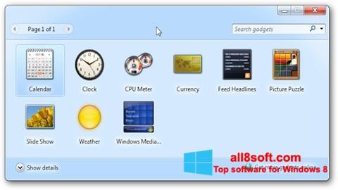Screenshot 8GadgetPack für Windows 8