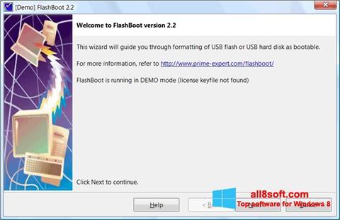 Screenshot FlashBoot für Windows 8