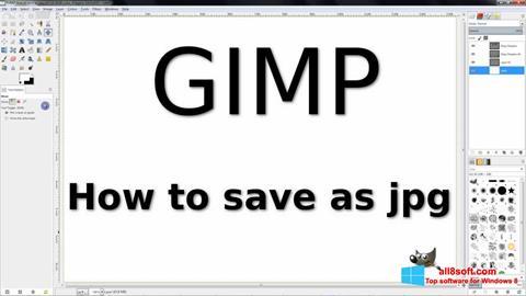 Screenshot GIMP für Windows 8