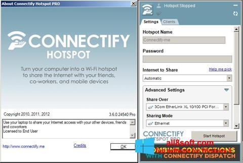 Screenshot Connectify Pro für Windows 8