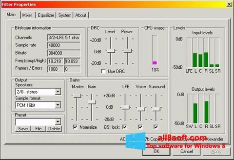 Screenshot AC3 Codec für Windows 8