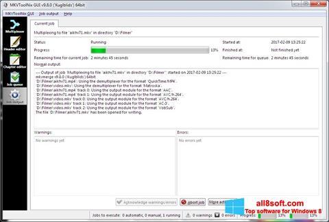 Screenshot MKVToolnix für Windows 8