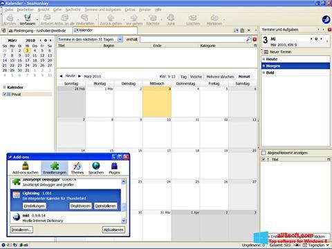 Screenshot SeaMonkey für Windows 8
