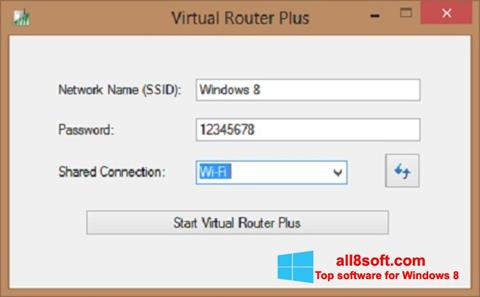 Screenshot Virtual Router Plus für Windows 8