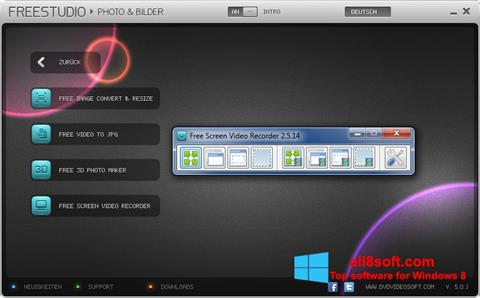 Screenshot Free Studio für Windows 8
