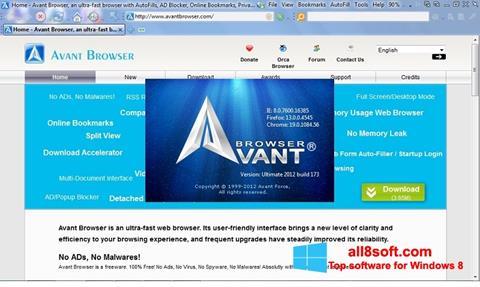 Screenshot Avant Browser für Windows 8