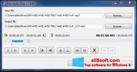 Screenshot Free Audio Dub für Windows 8