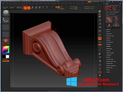 Screenshot ZBrush für Windows 8