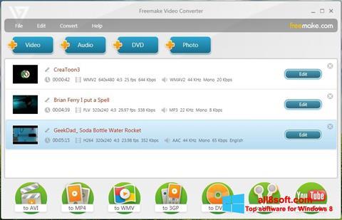 Screenshot Freemake Video Converter für Windows 8