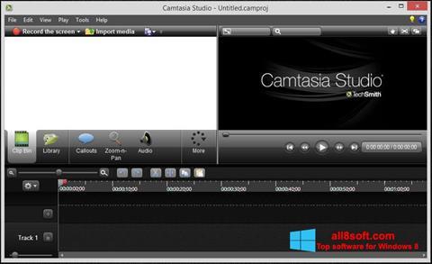 Screenshot Camtasia Studio für Windows 8