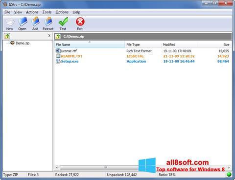 Screenshot IZArc für Windows 8