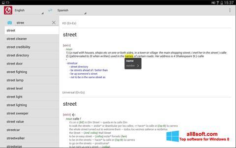 Screenshot ABBYY Lingvo für Windows 8