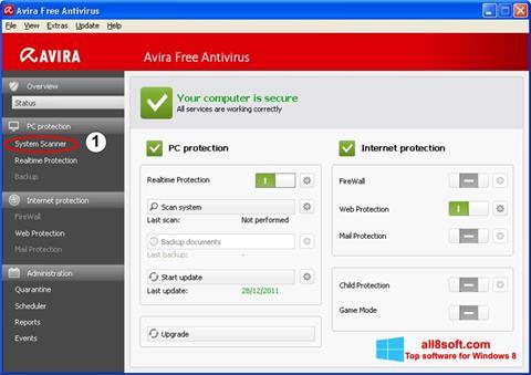 Screenshot Avira für Windows 8