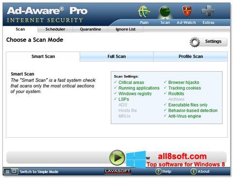 Screenshot Ad-Aware für Windows 8