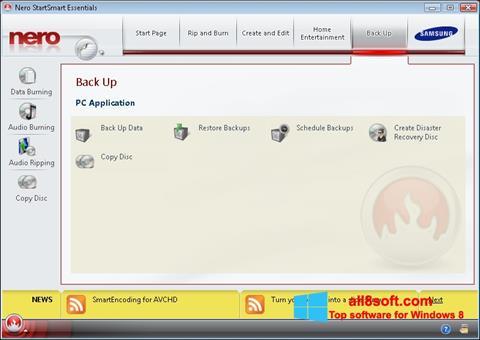 Screenshot Nero für Windows 8