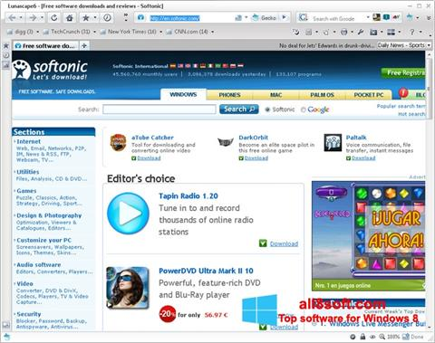 Screenshot Lunascape für Windows 8