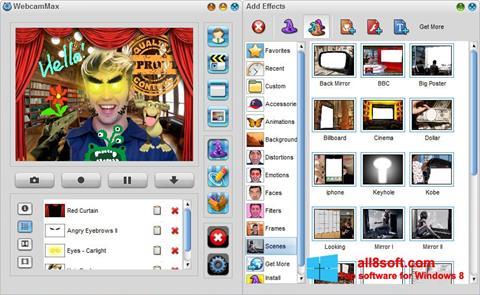 Screenshot WebcamMax für Windows 8